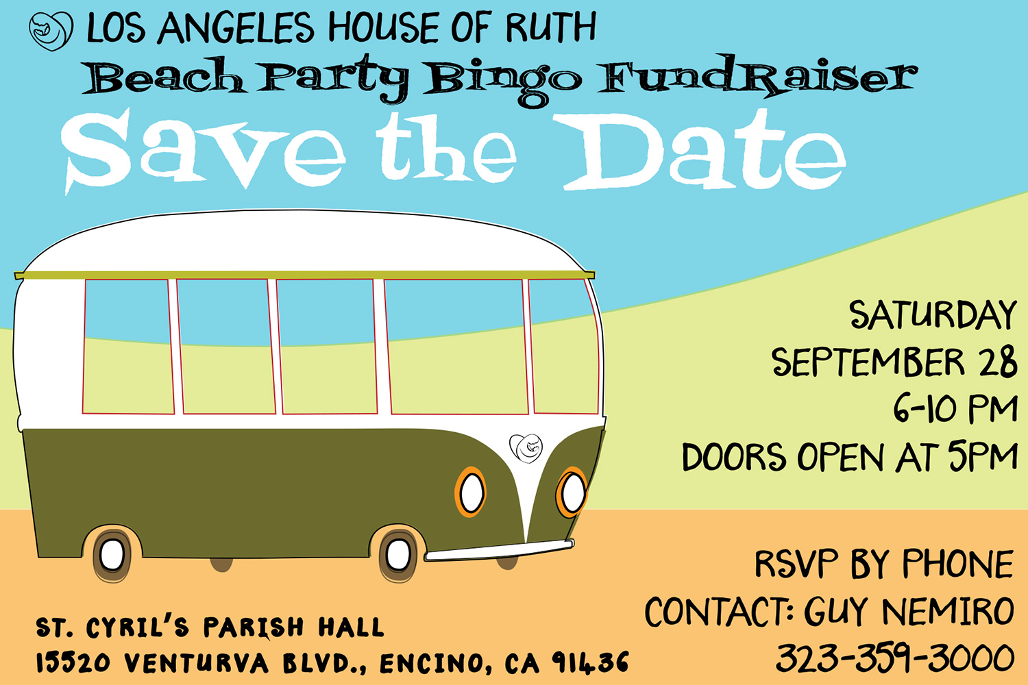 Los Angeles House of Ruth Beach Party Bingo Fundraiser Save the Date